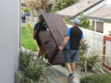 moving patio furniture